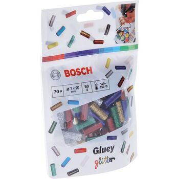 Ανταλλακτικά Θερμοκόλλας Gluey Έγχρωμα Μικτά 70 Τεμαχίων Bosch