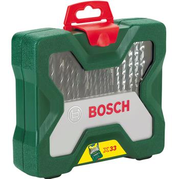 Σετ Κασετίνα Τρυπάνια Και Καρυδάκια 33 Τεμαχίων Bosch