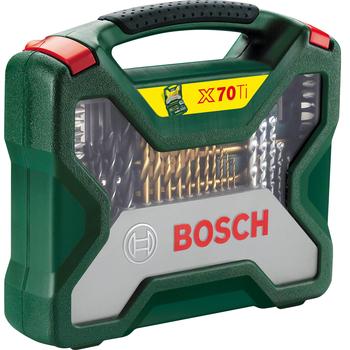 Σετ Κασετίνα Τρυπάνια Και Καρυδάκια Με Τρυπάνια Τιτανίου 70 Τεμαχίων Bosch