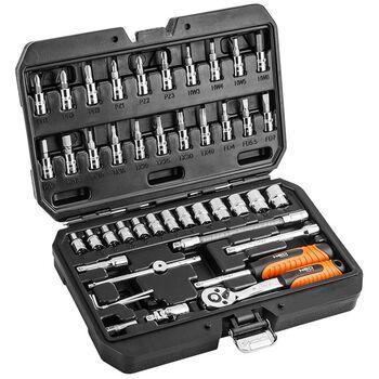 Σετ Κασετίνα Καρυδάκια 1/4'' Με Καστάνια Και Προέκταση 46τμχ  Neo Tools