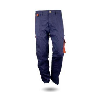 Παντελόνι Εργασίας Μπλε - Πορτοκαλί 270g/m2 GLX30