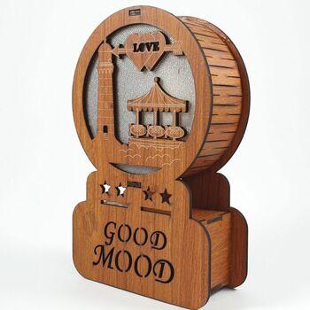 Ξύλινο Διακοσμητικό Good Mood Με Φώς Φάρος 10x4x16cm