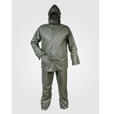 Αδιάβροχο Κοστούμι PU Kουκούλα Πράσινο Comfort