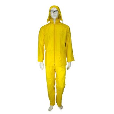 Αδιάβροχο Κοστούμι PVC Με Kουκούλα Κίτρινο Rain Plus