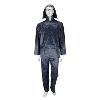Αδιάβροχο Κοστούμι PVC Με Kουκούλα Μπλε Rain Plus