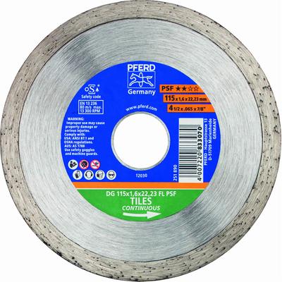 Δίσκος Διαμντέ Δομικών Υλικών 125mmX1.6X22.3 Pferd
