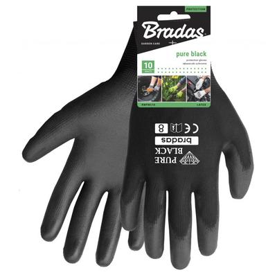 Γάντια Νιτριλίου Pure Black Μαύρα No10 Bradas - RWPBC10